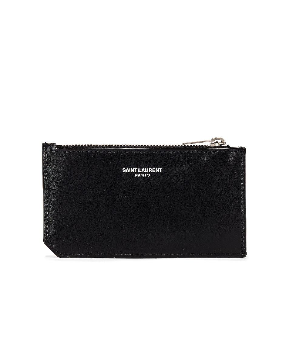 Image 2 of Saint Laurent Credit Card Holder in Black