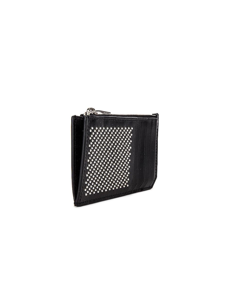 Image 3 of Saint Laurent Credit Card Holder in Black