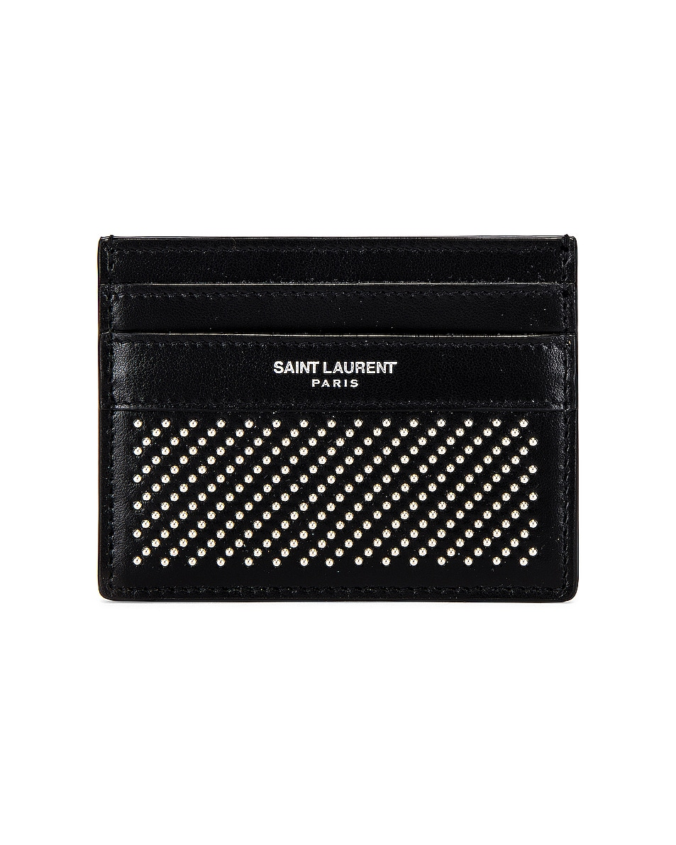Image 1 of Saint Laurent YSL Credit Card Case in Black