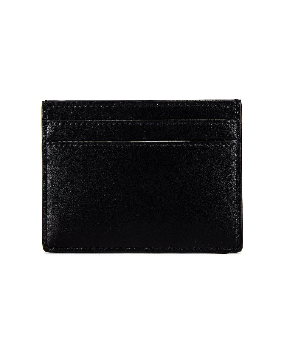 Image 2 of Saint Laurent YSL Credit Card Case in Black
