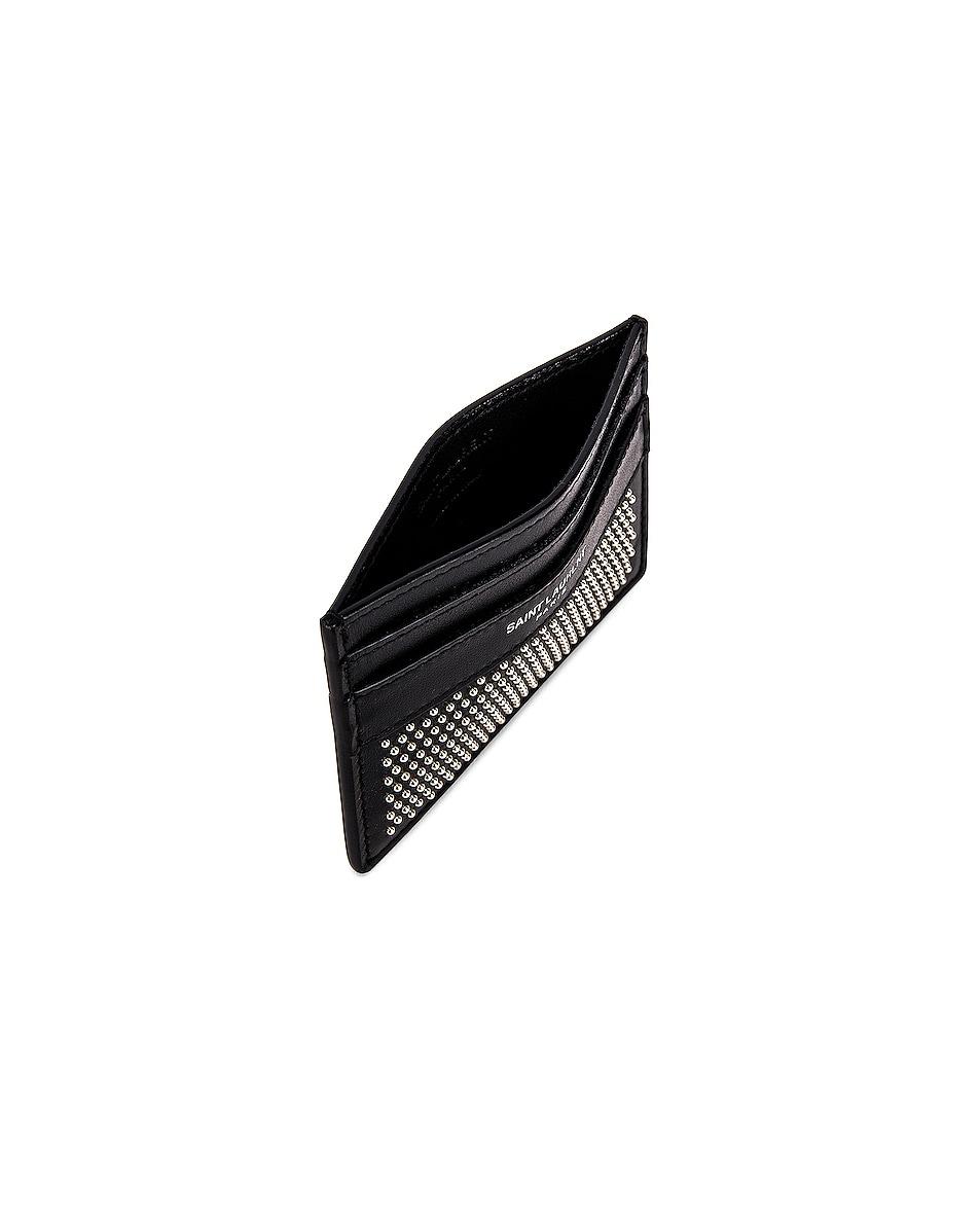 Image 4 of Saint Laurent YSL Credit Card Case in Black