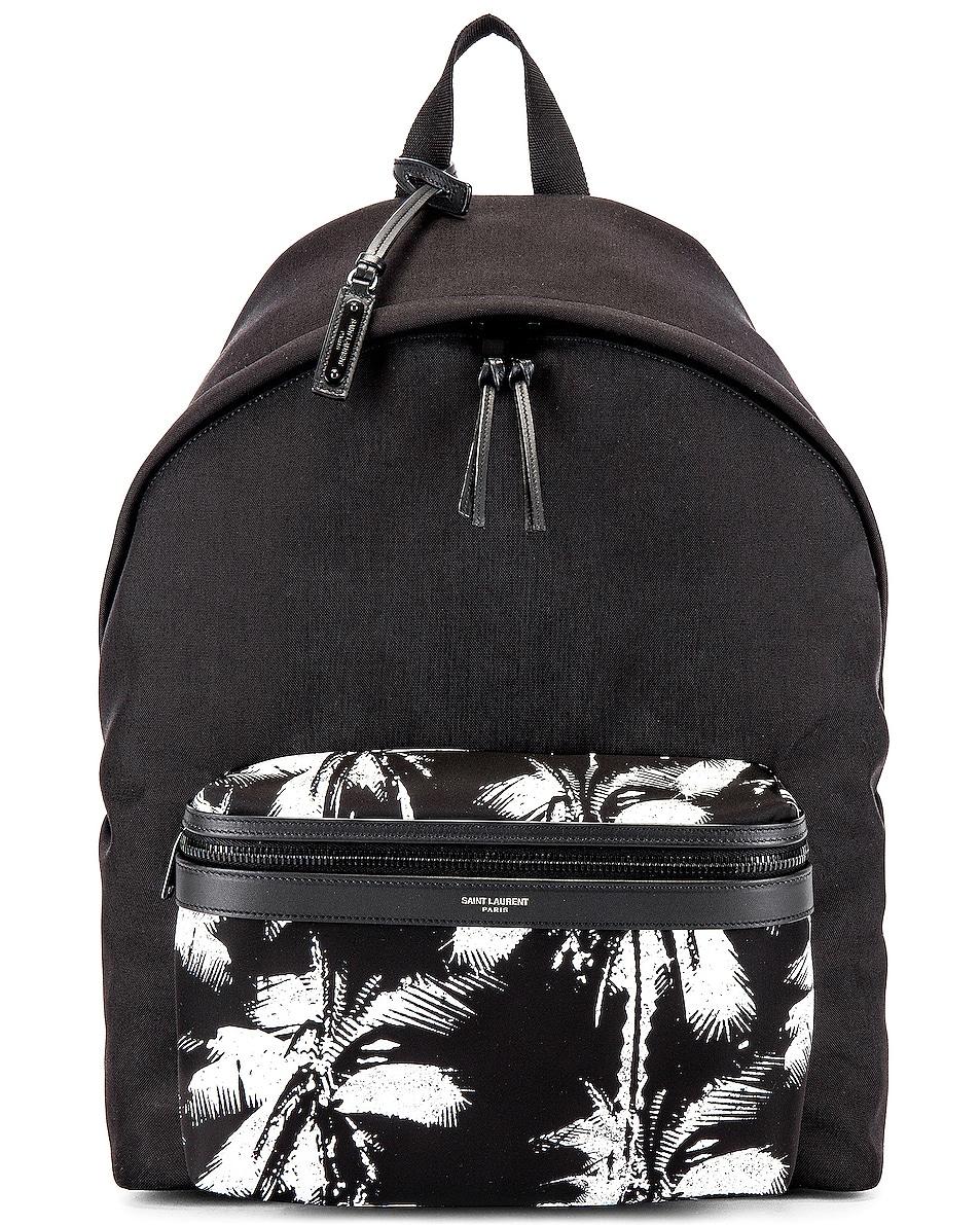 Image 1 of Saint Laurent Backpack in Black & White