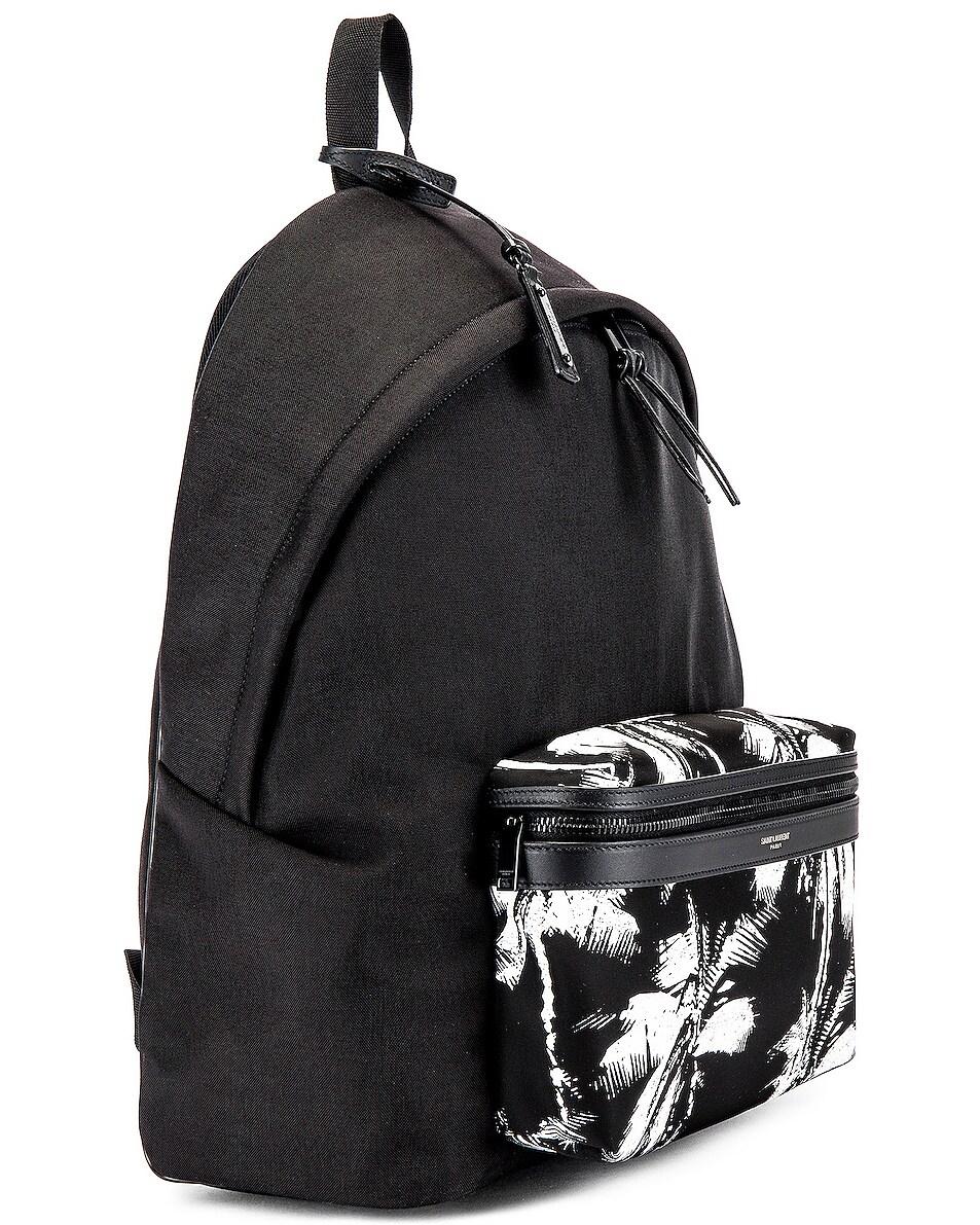 Image 3 of Saint Laurent Backpack in Black & White