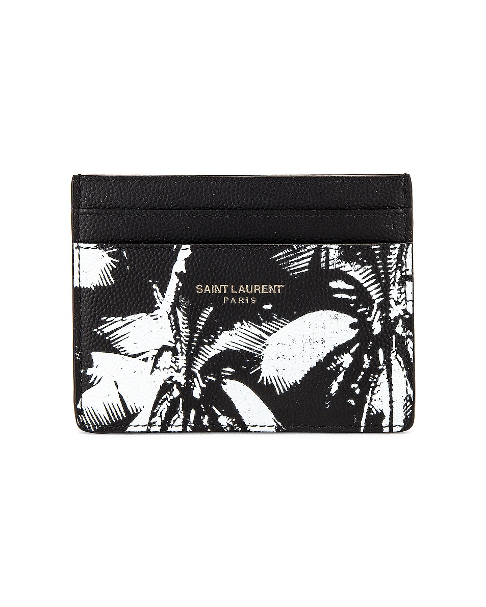 Image 1 of Saint Laurent YSL Credit Card Case in Black & White