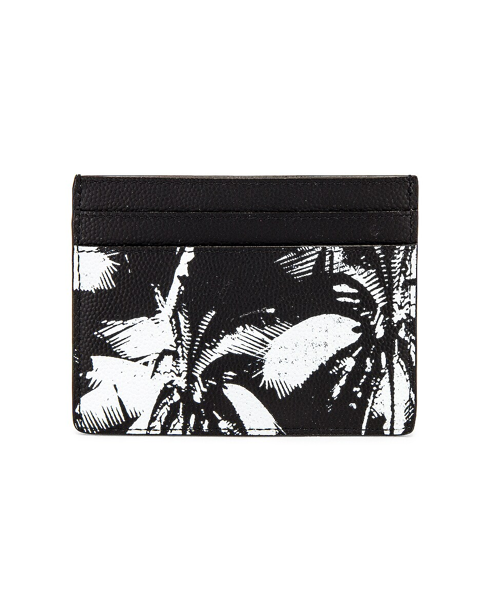 Image 2 of Saint Laurent YSL Credit Card Case in Black & White