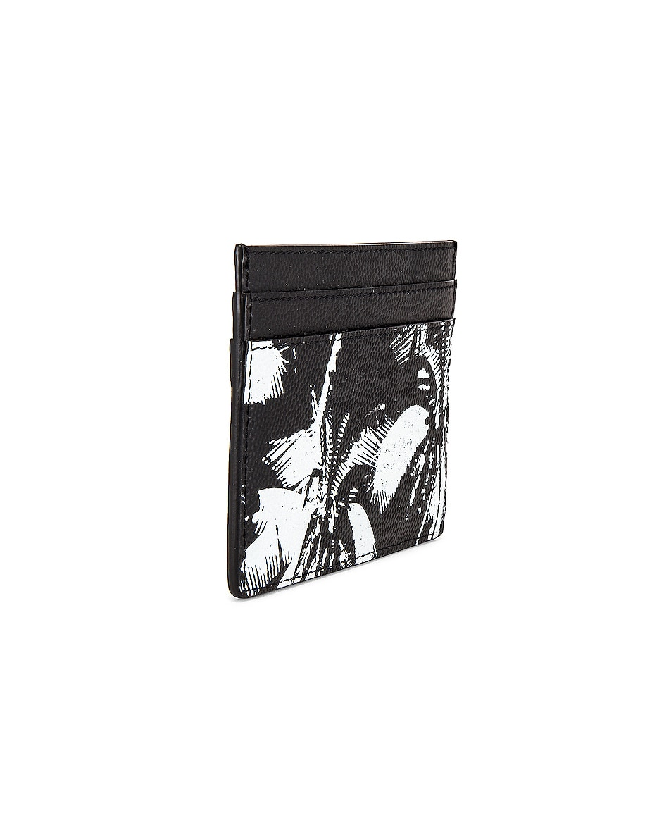 Image 3 of Saint Laurent YSL Credit Card Case in Black & White