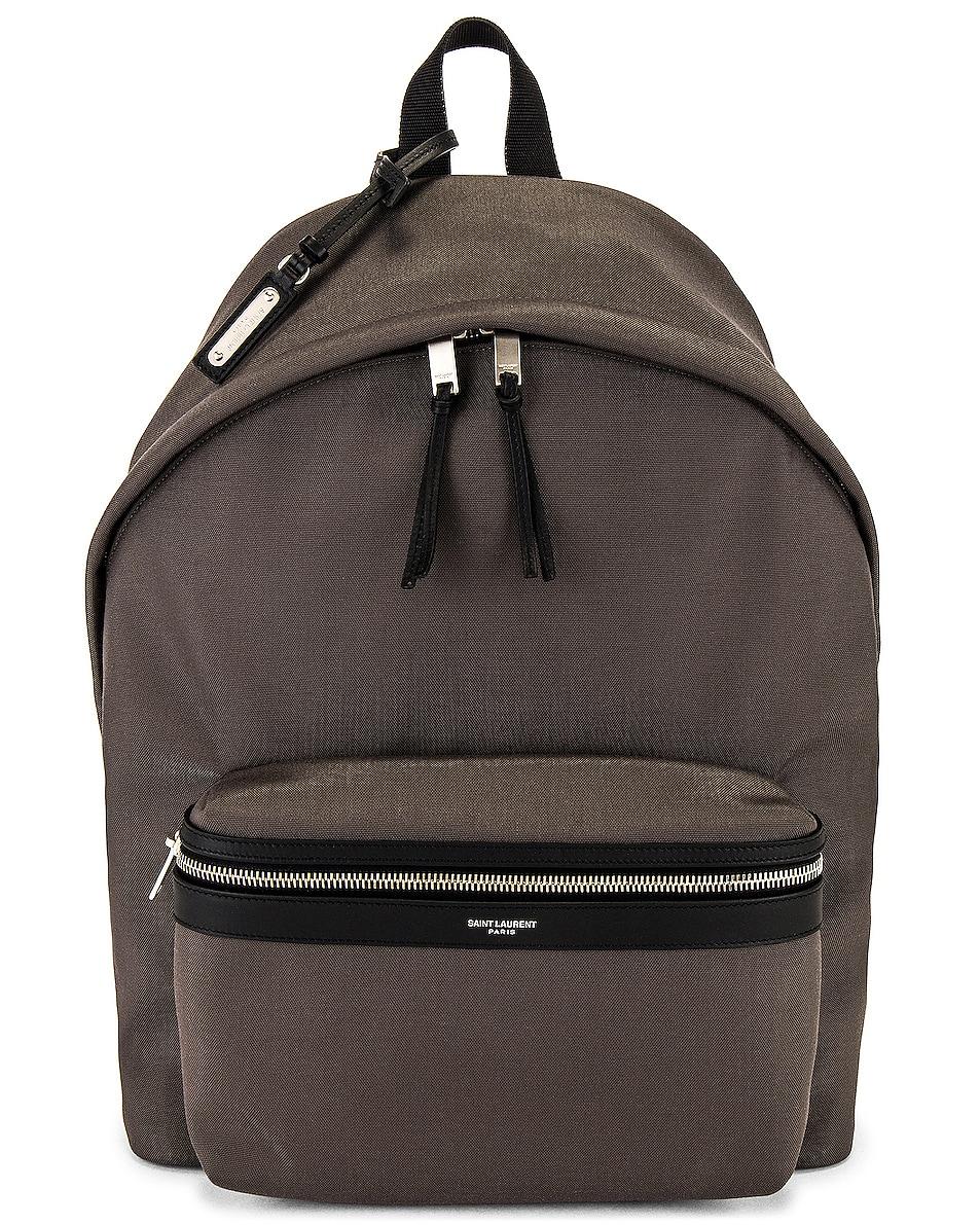 Image 1 of Saint Laurent YSL Bag City Backpack in Storm & Black & Black