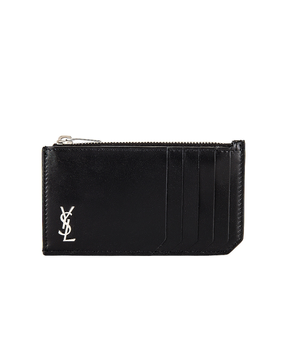 Image 1 of Saint Laurent YSL Credit Card Holder in Black