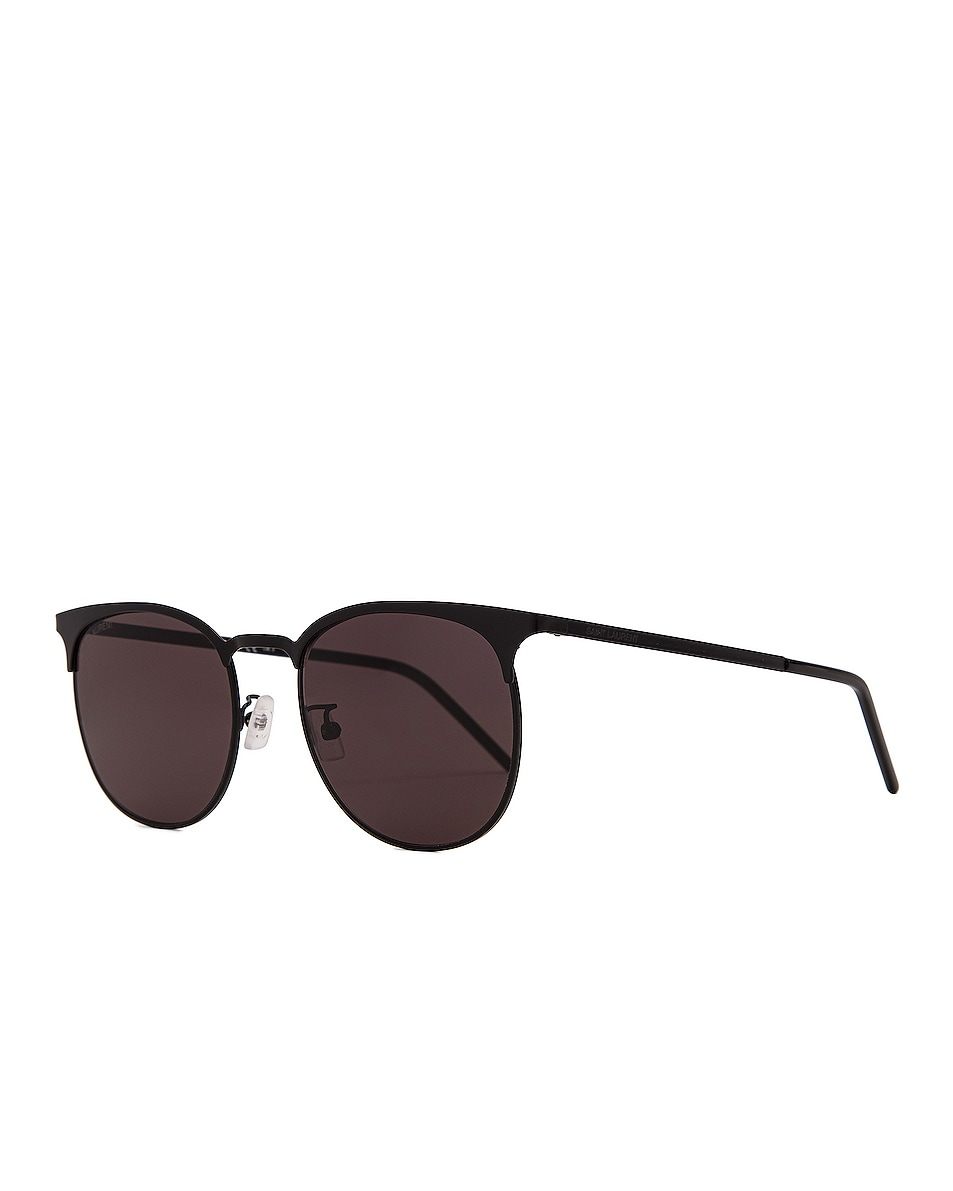 Image 2 of Saint Laurent Slim Club Master Metal Sunglasses in Semimatte Black