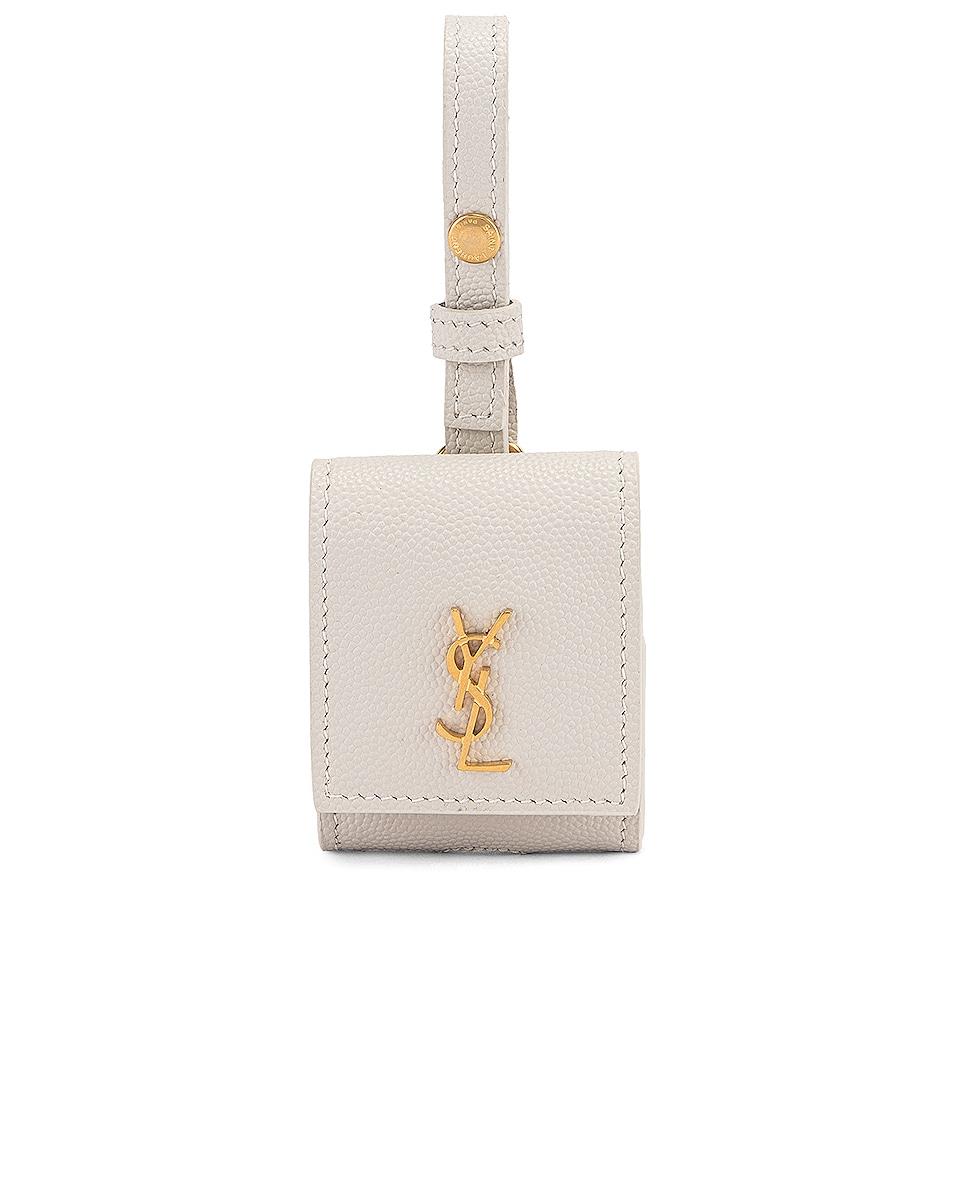 Image 1 of Saint Laurent Airpod Case in Crema Soft