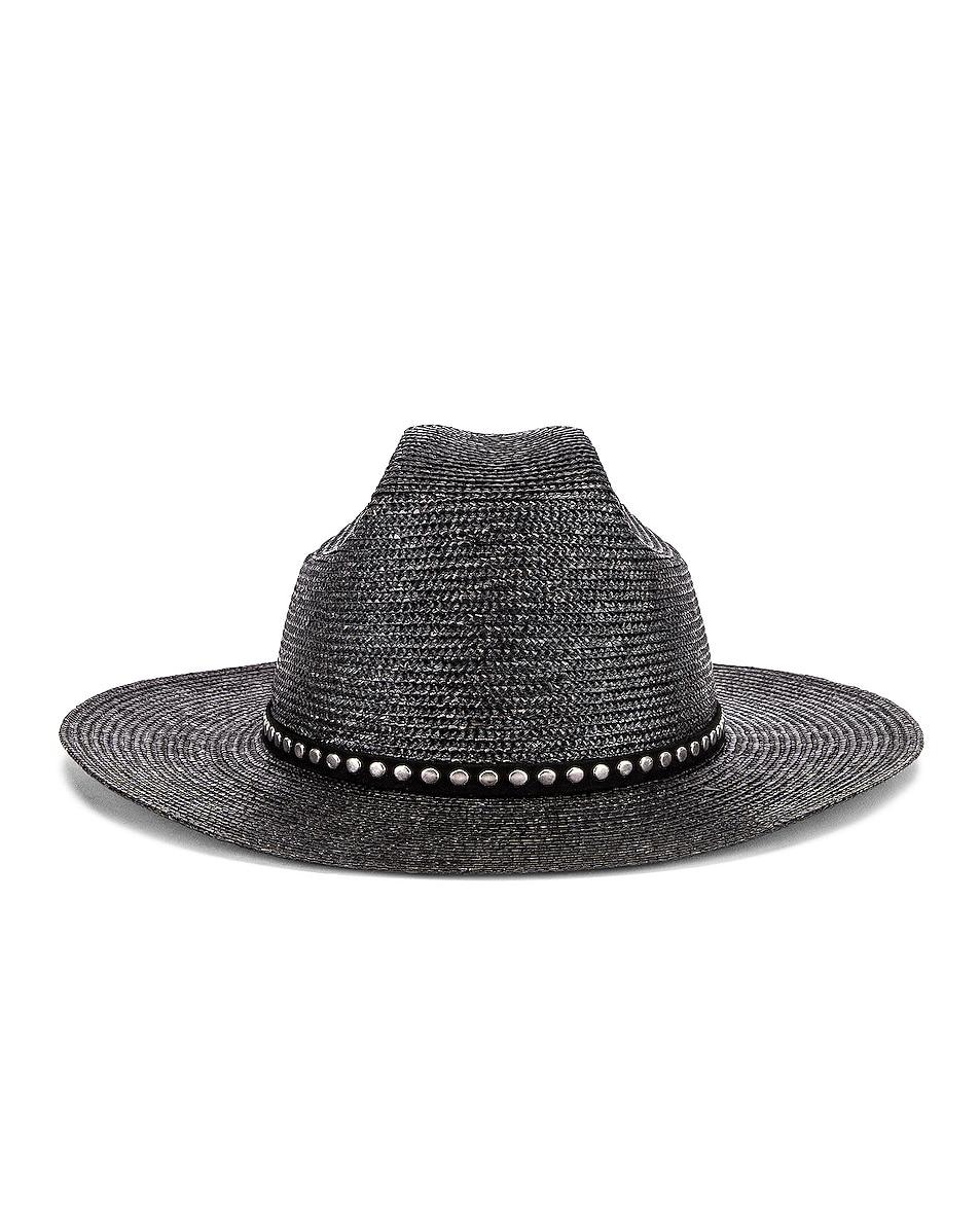 Image 1 of Saint Laurent Kate Hat in Black & Silver