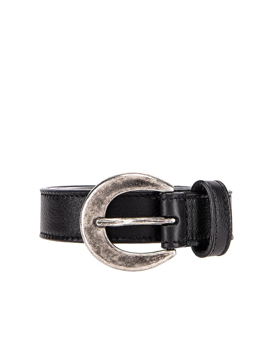Image 1 of Saint Laurent Leather Belt in Black