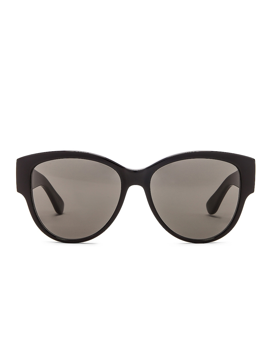 Image 1 of Saint Laurent Vintage Cat Eye Sunglasses in Black & Grey