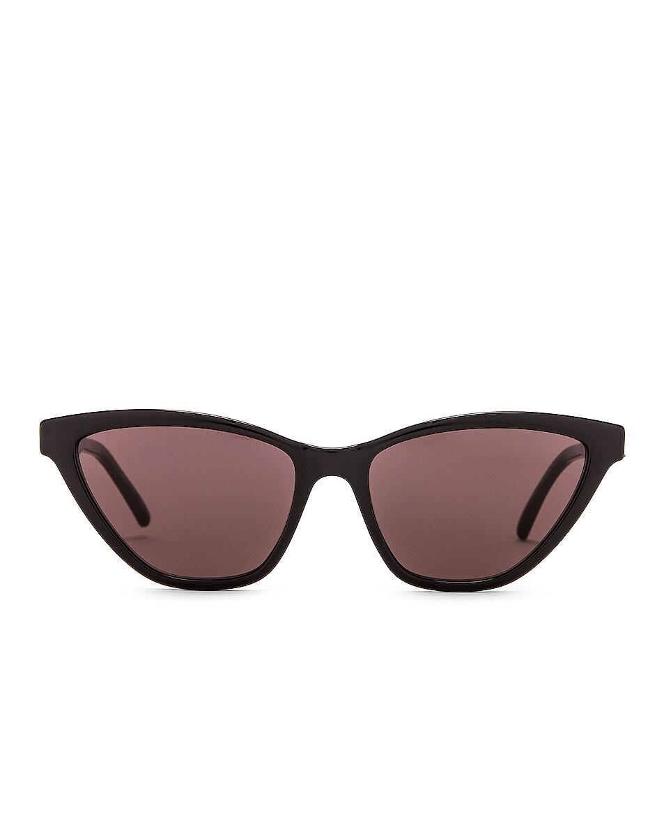 Image 1 of Saint Laurent Cat Eye Sunglasses in Shiny Black