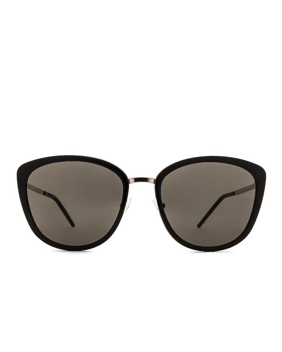 Image 1 of Saint Laurent Slim Soft Cat Eye Sunglasses in Black