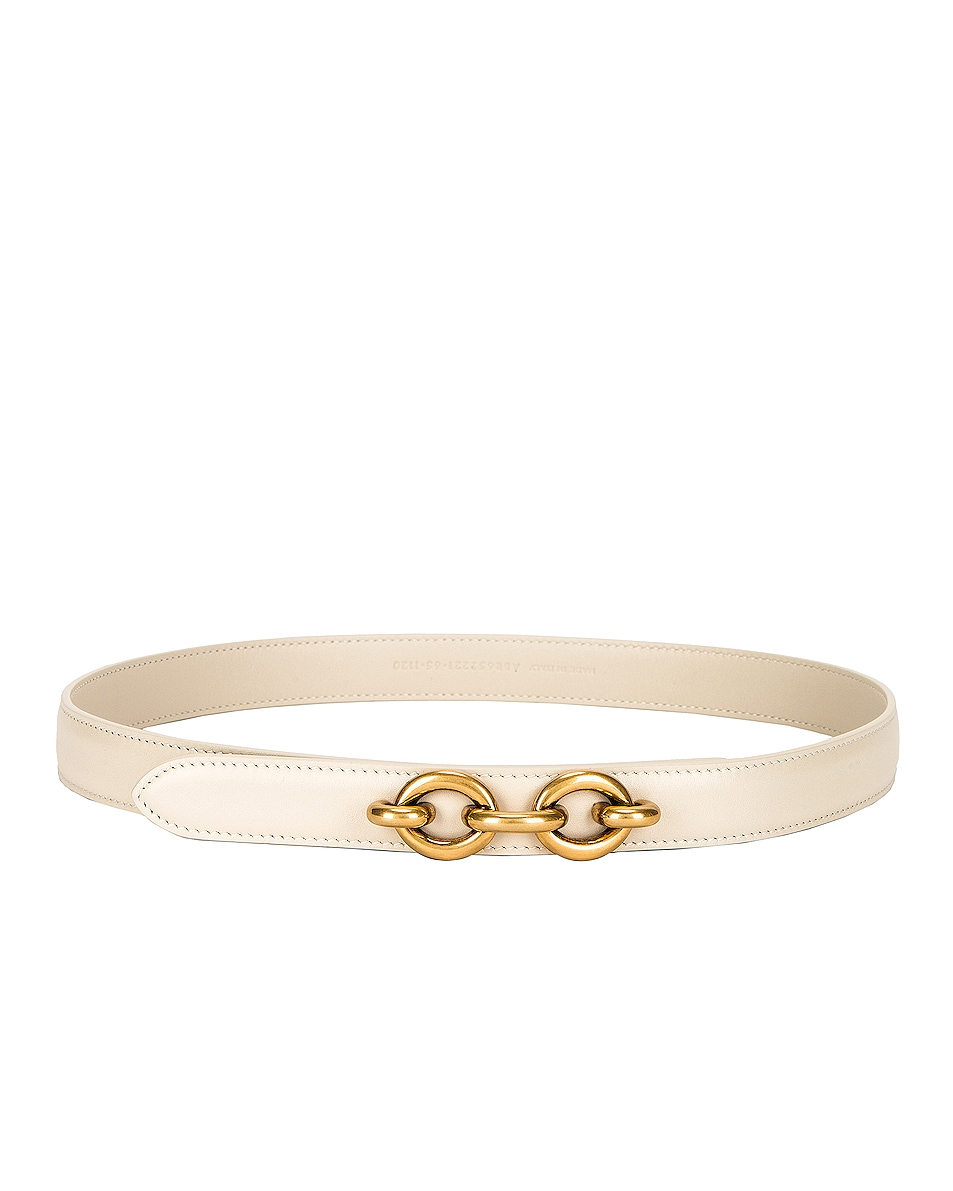 Image 1 of Saint Laurent Maillon Belt in Blanc Vintage