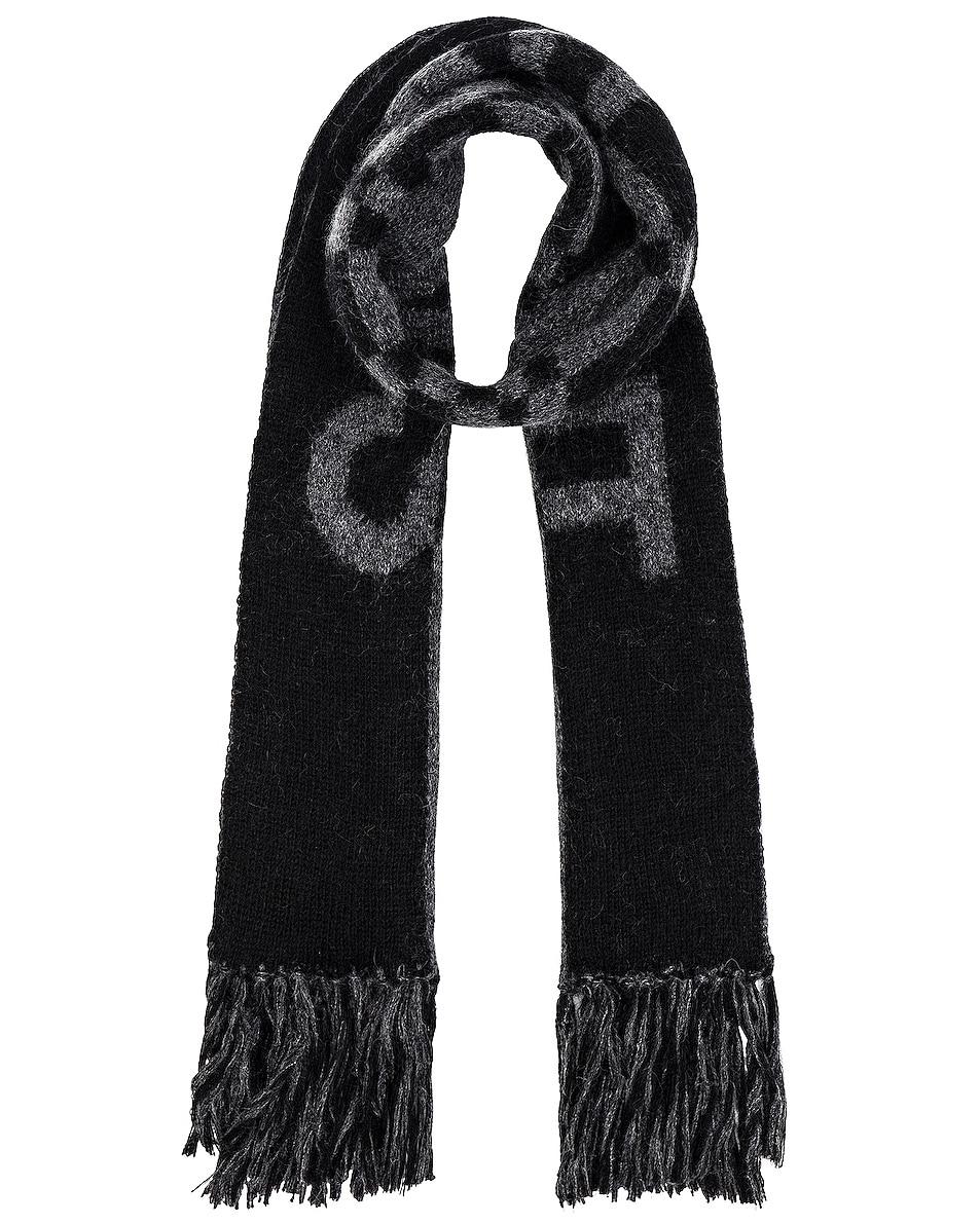 Image 1 of Saint Laurent Wool Scarf in Black & Dark Grey
