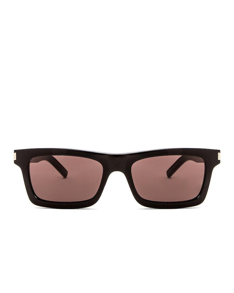 Image 1 of Saint Laurent SL 461 Sunglasses in Black