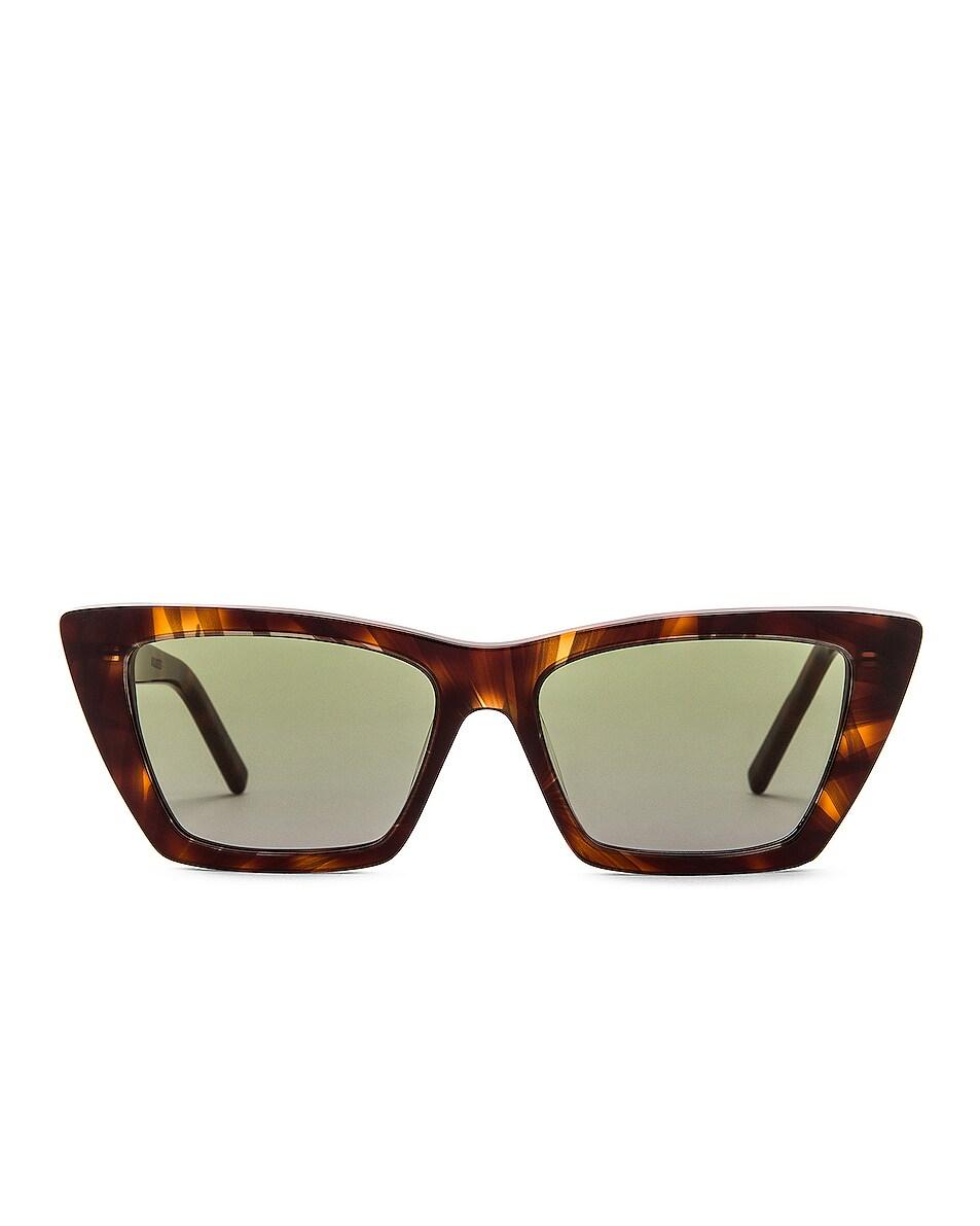 Image 1 of Saint Laurent Mica Sunglasses in Havana