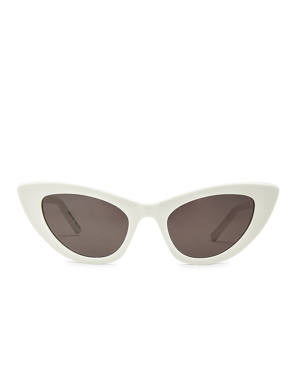 Image 1 of Saint Laurent Lily Sunglasses in White