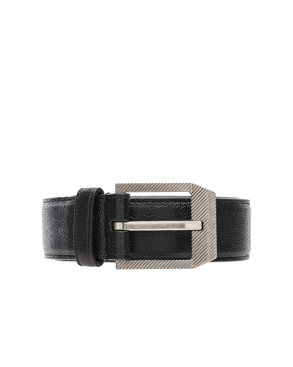 Image 1 of Saint Laurent Rive Gauche Belt in Black