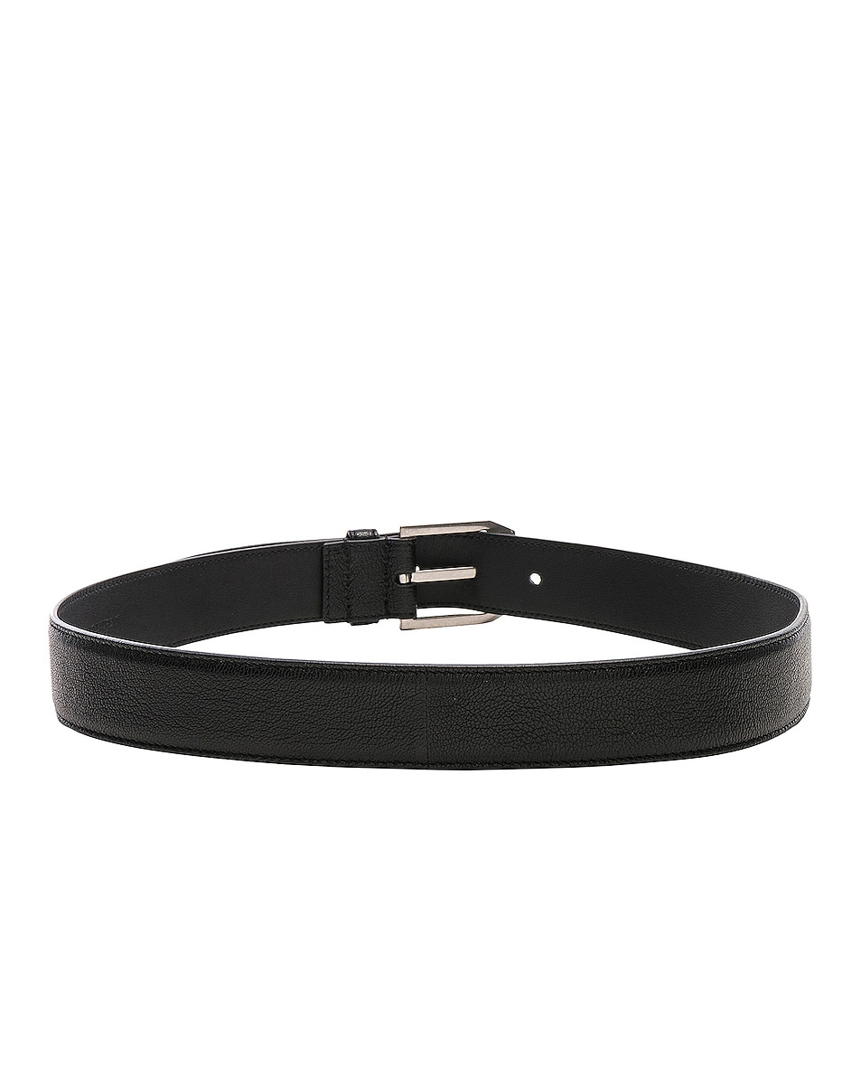 Image 3 of Saint Laurent Rive Gauche Belt in Black