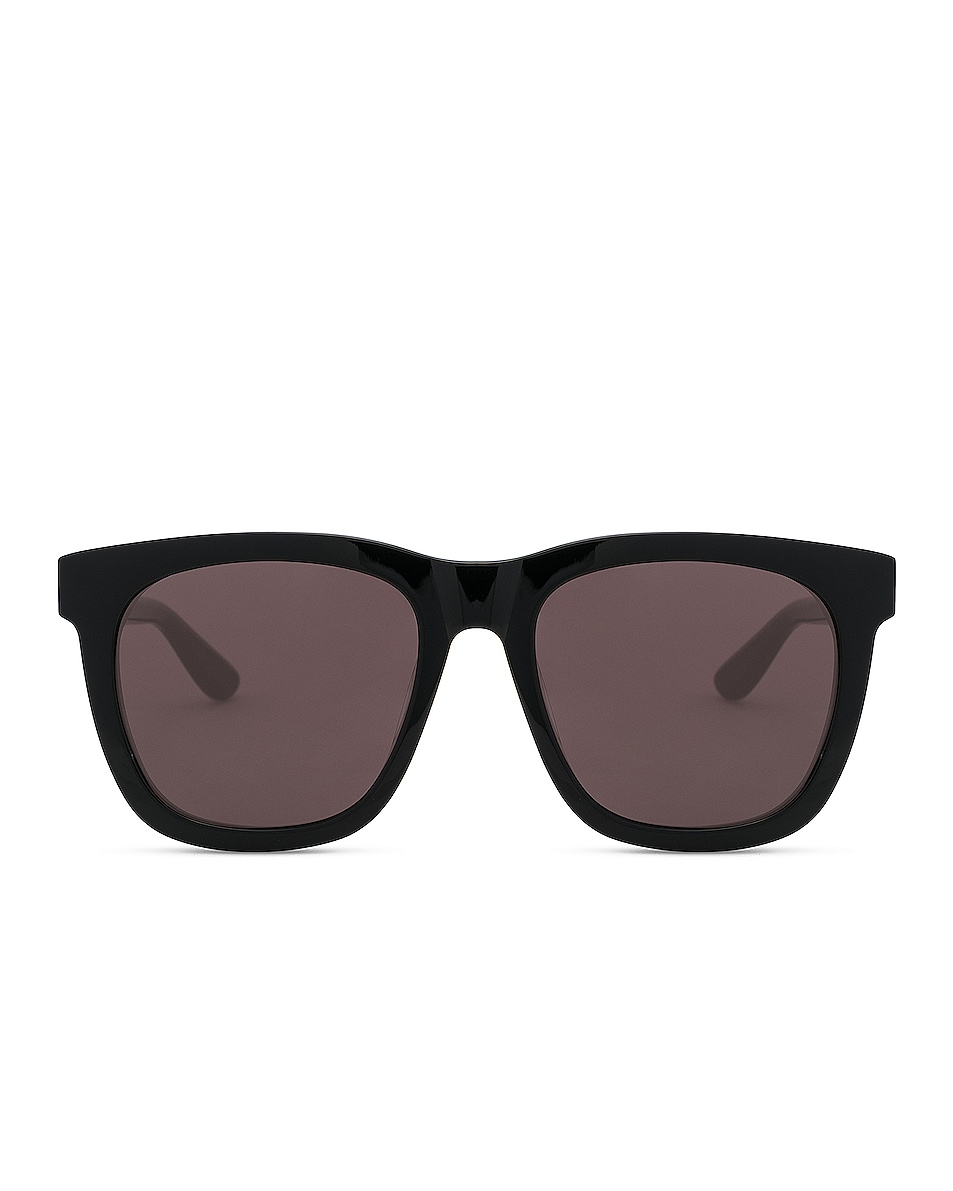 Image 1 of Saint Laurent Oversized Rectangle Sunglasses in Black & Grey