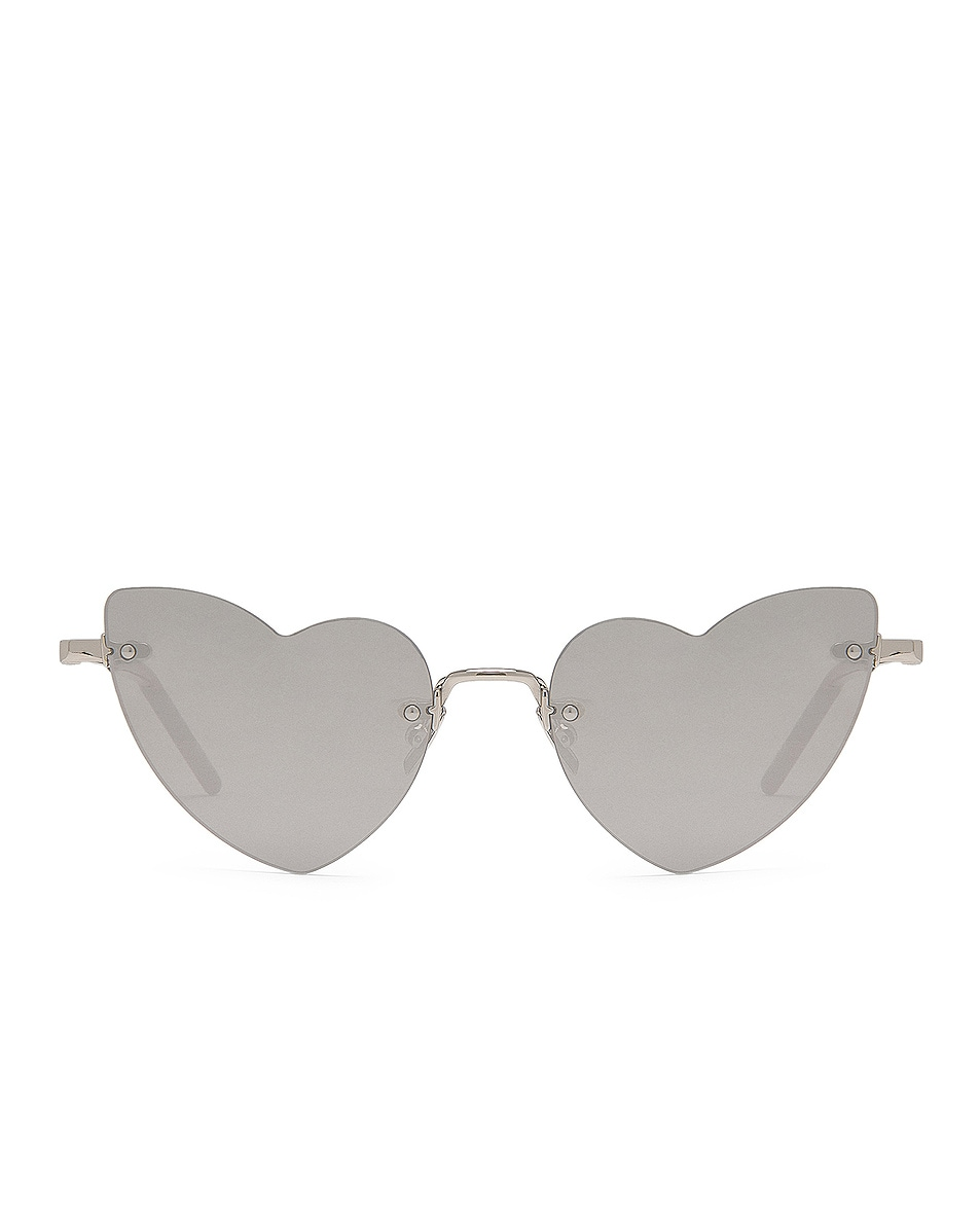 Image 1 of Saint Laurent Loulou Sunglasses in Silver