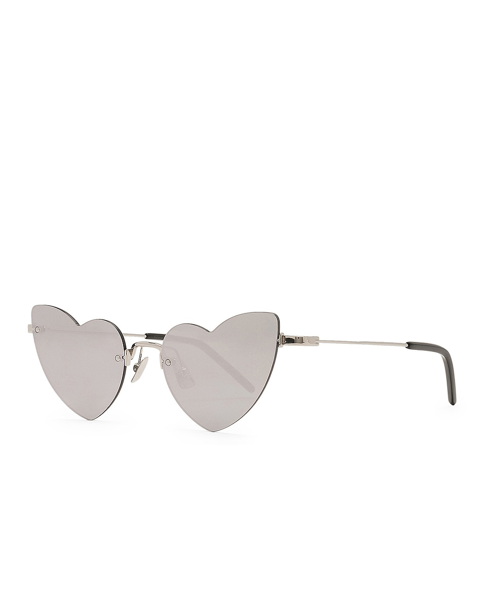 Image 2 of Saint Laurent Loulou Sunglasses in Silver