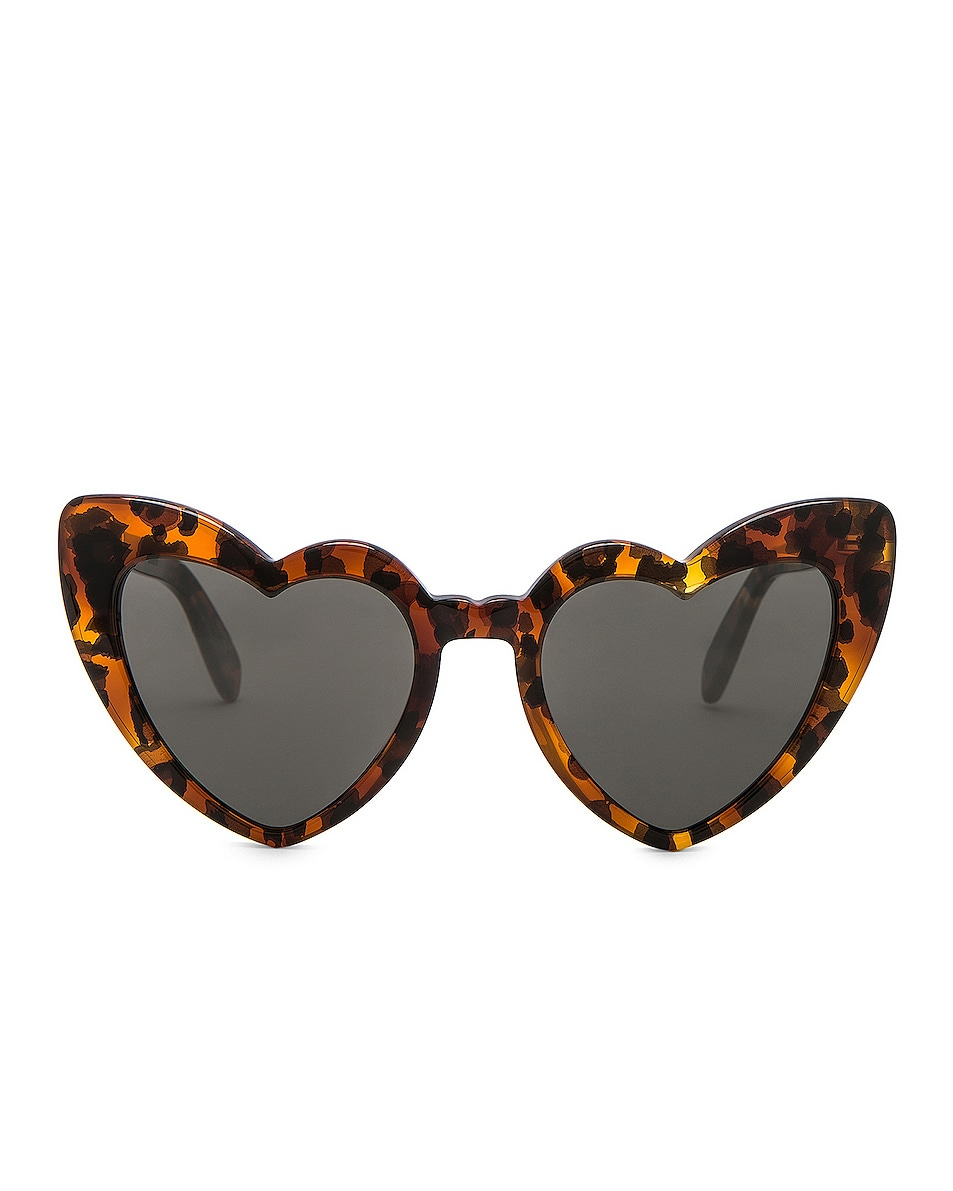Image 1 of Saint Laurent Loulou Sunglasses in Leopard Havana