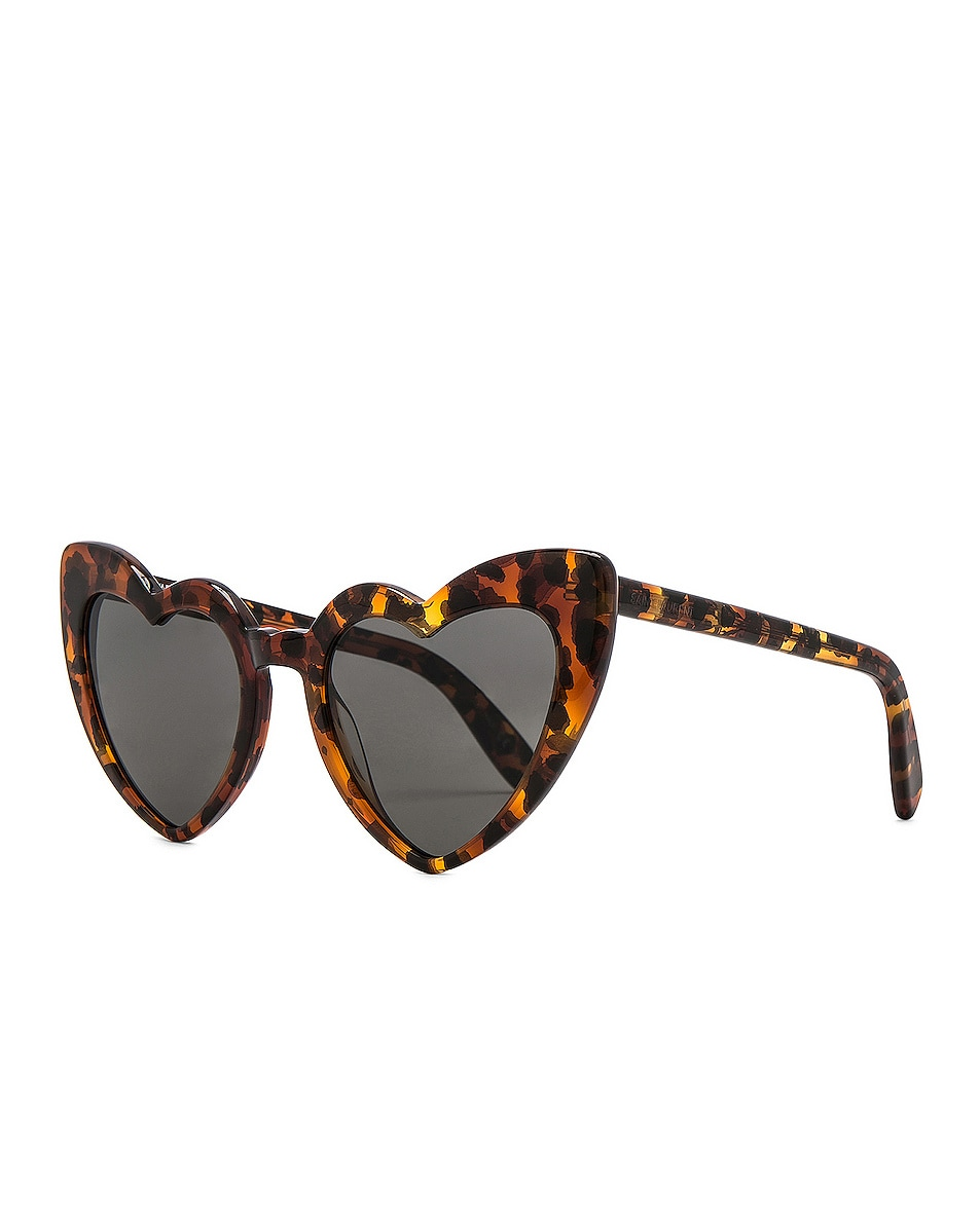 Image 2 of Saint Laurent Loulou Sunglasses in Leopard Havana