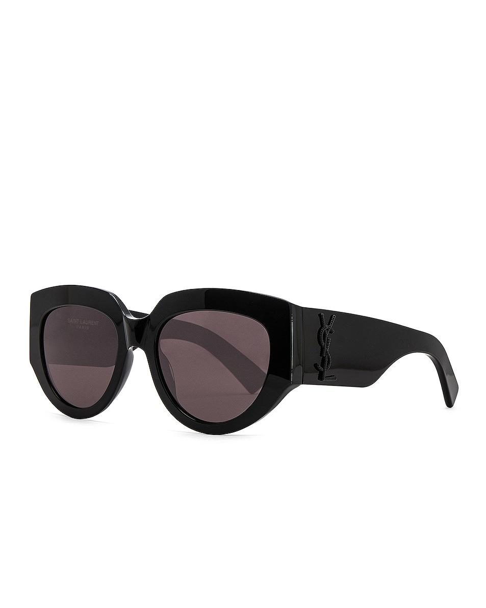 Image 2 of Saint Laurent Rope Monogram Sunglasses in Black