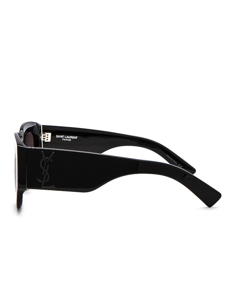 Image 3 of Saint Laurent Rope Monogram Sunglasses in Black