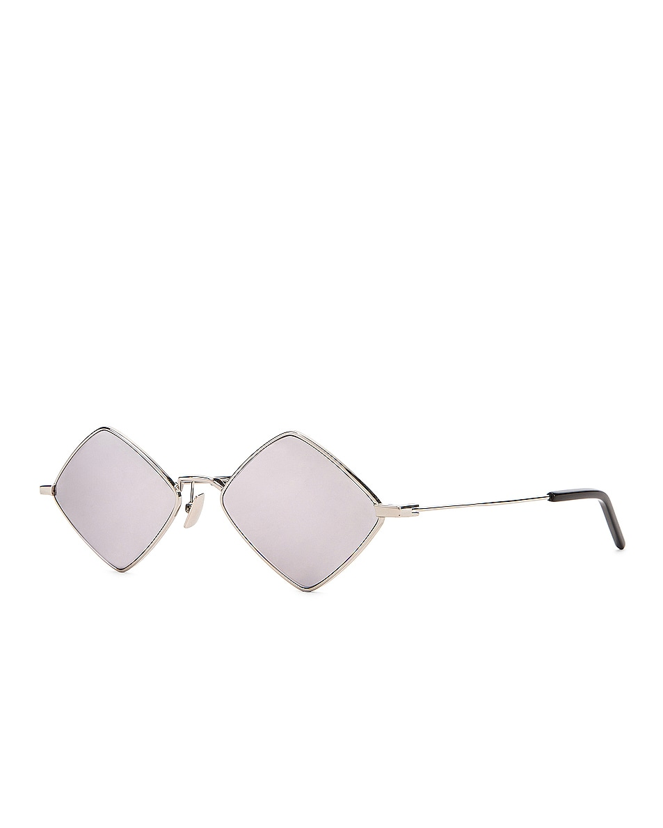 Image 2 of Saint Laurent Lisa Sunglasses in Shiny Silver
