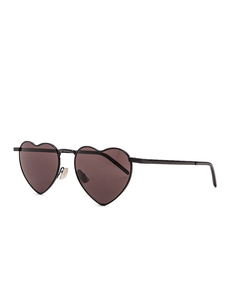 Image 2 of Saint Laurent Loulou Sunglasses in Black