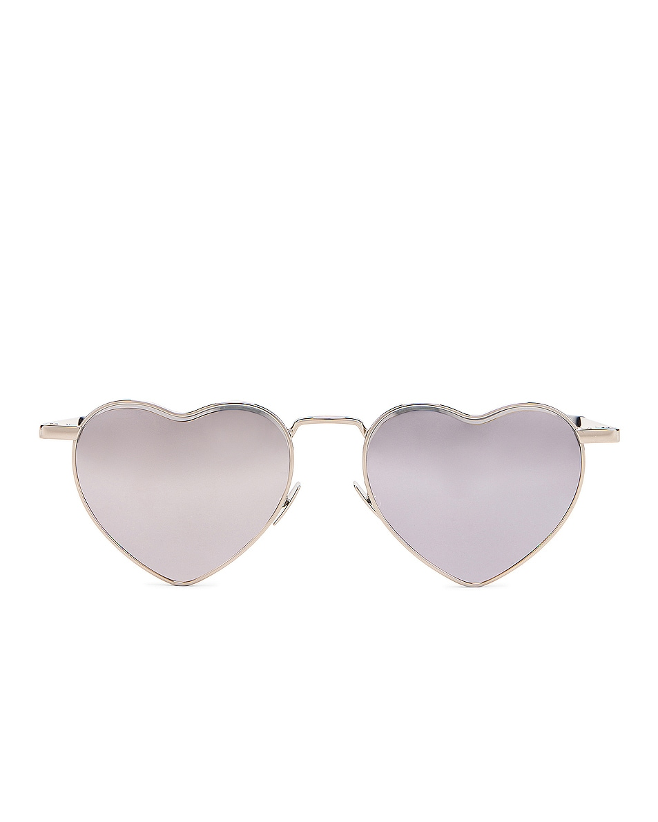 Image 1 of Saint Laurent Loulou Sunglasses in Shiny Silver