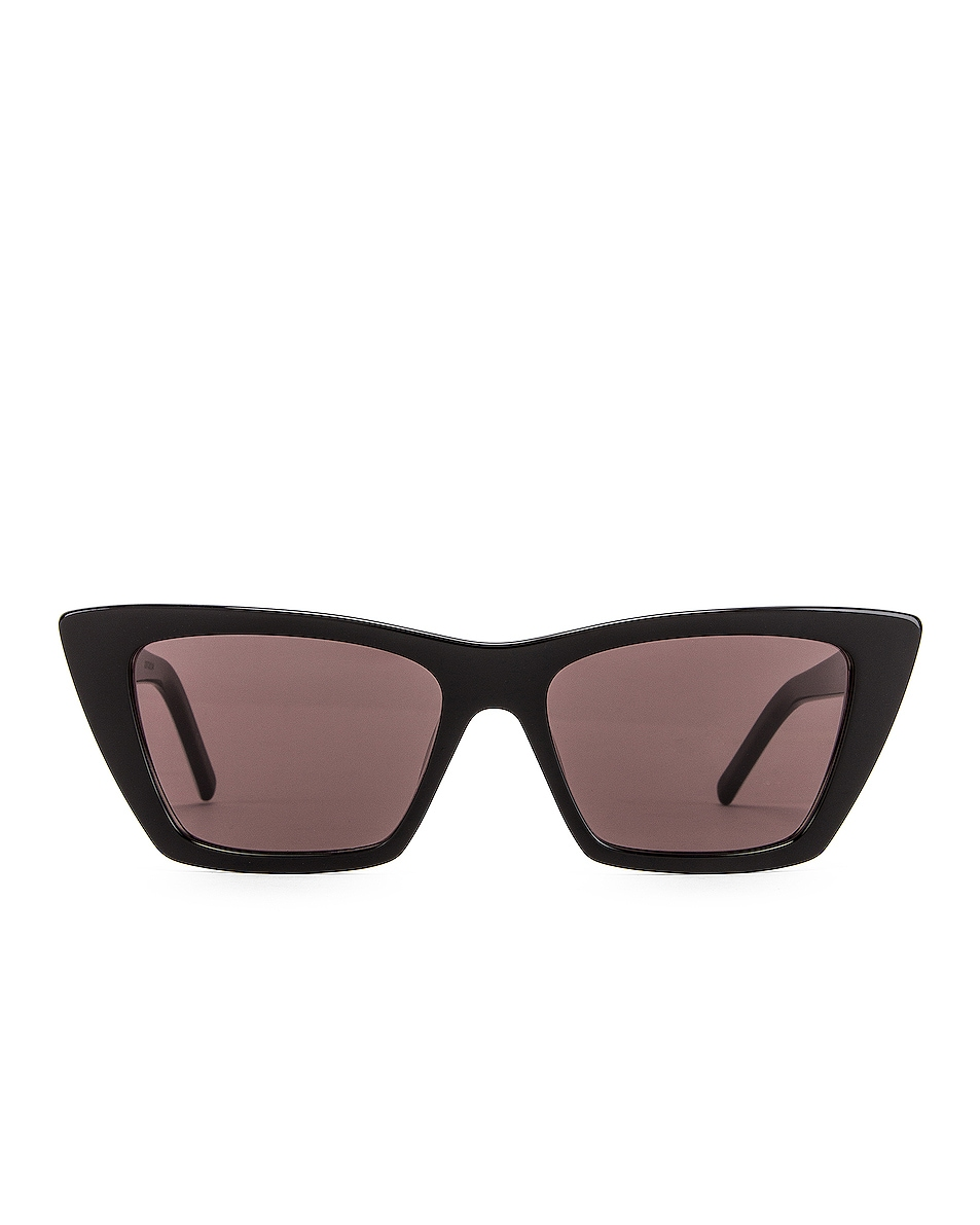 Image 1 of Saint Laurent Mica Sunglasses in Black & White