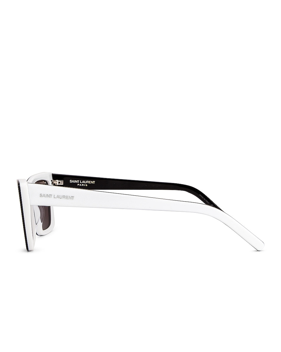 Image 3 of Saint Laurent Mica Sunglasses in Black & White