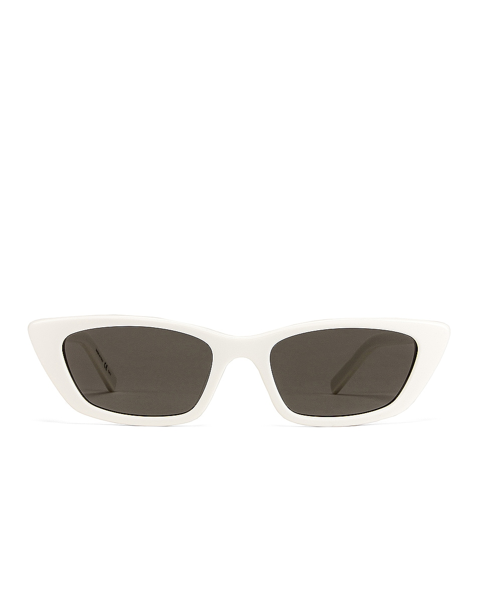 Image 1 of Saint Laurent Small Sunglasses in Ivory