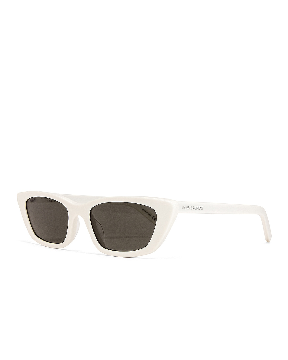 Image 2 of Saint Laurent Small Sunglasses in Ivory