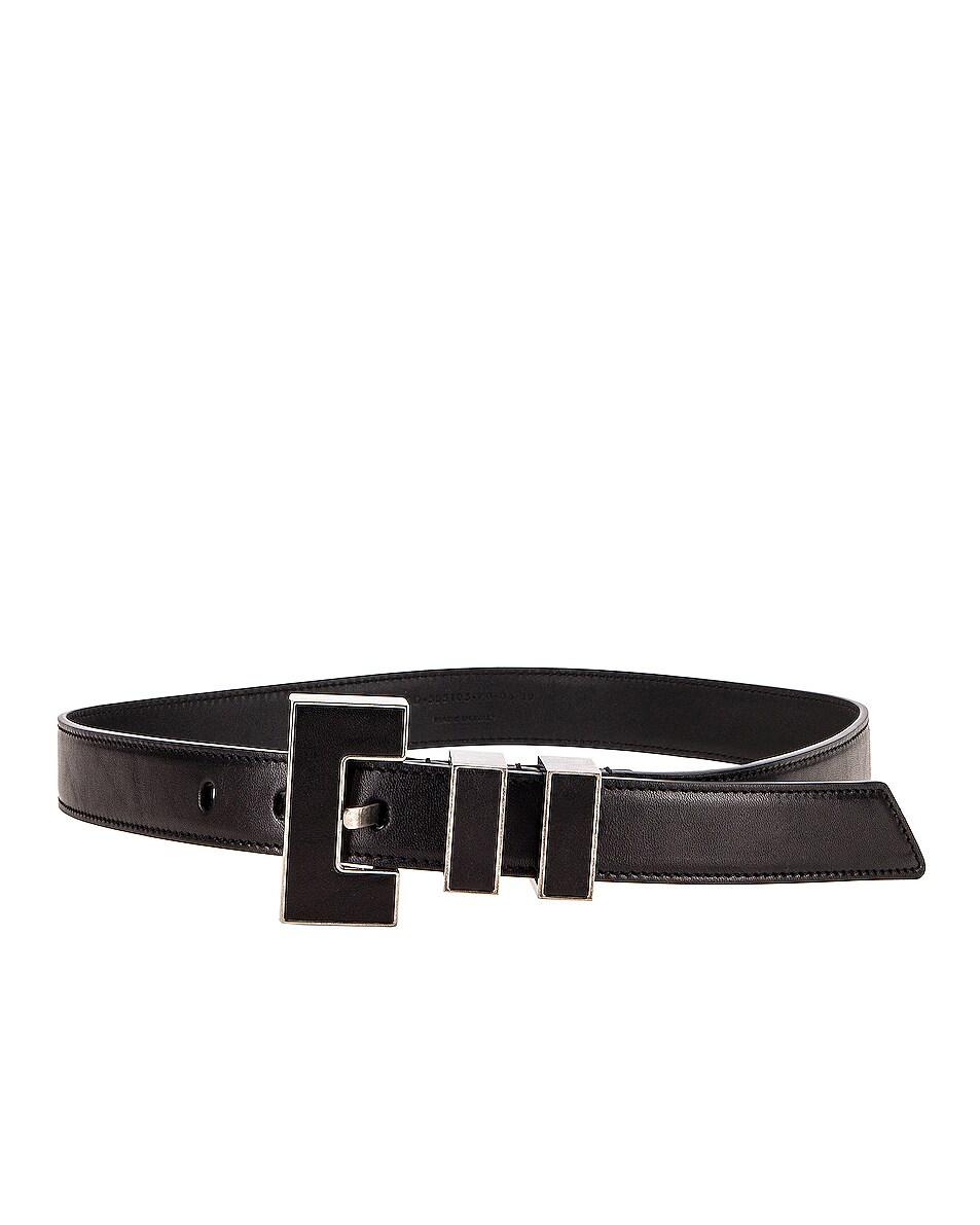 Image 2 of Saint Laurent Leather Belt in Black