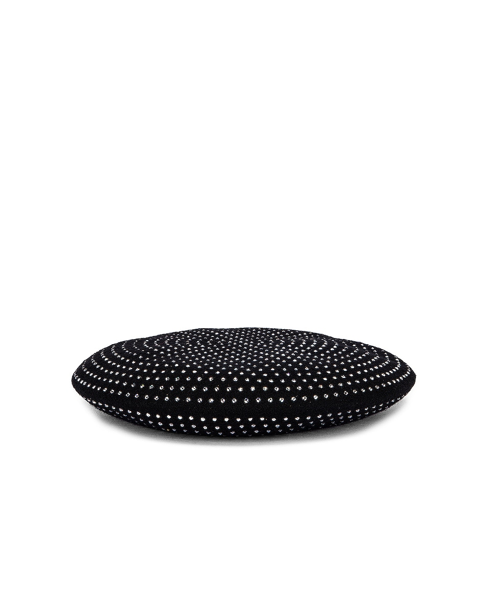 Image 1 of Saint Laurent Studs Beret in Black & White