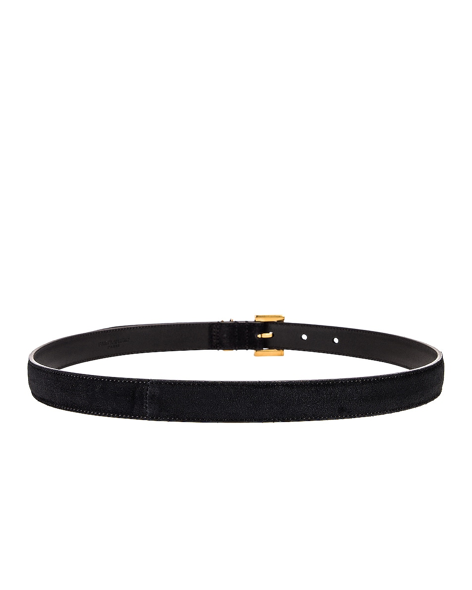 Image 2 of Saint Laurent Light Suede Belt in Black