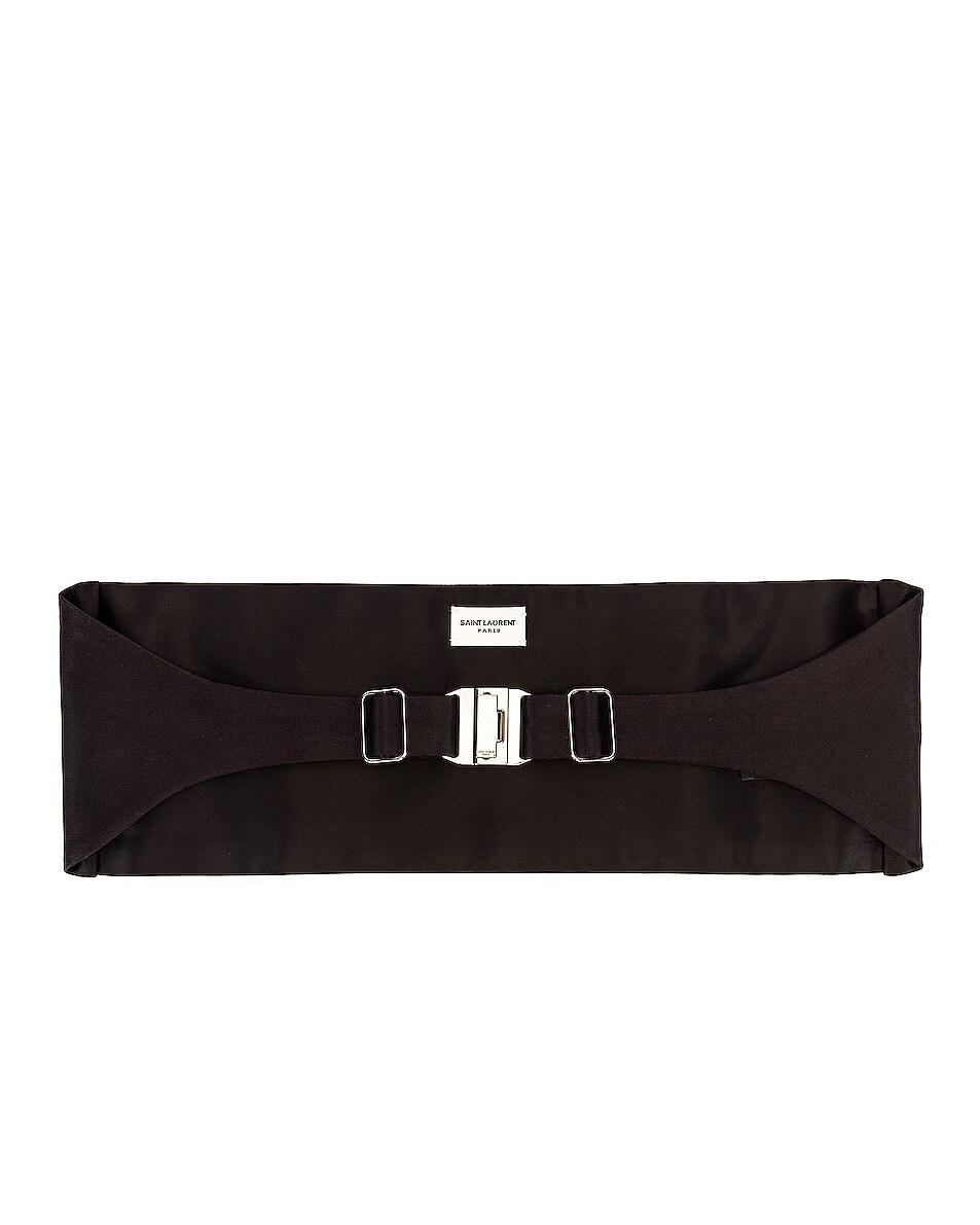 Image 1 of Saint Laurent Cummerbund Belt in Black