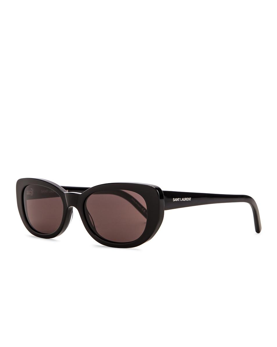 Image 2 of Saint Laurent Betty Vintage Sunglasses in Shiny Black