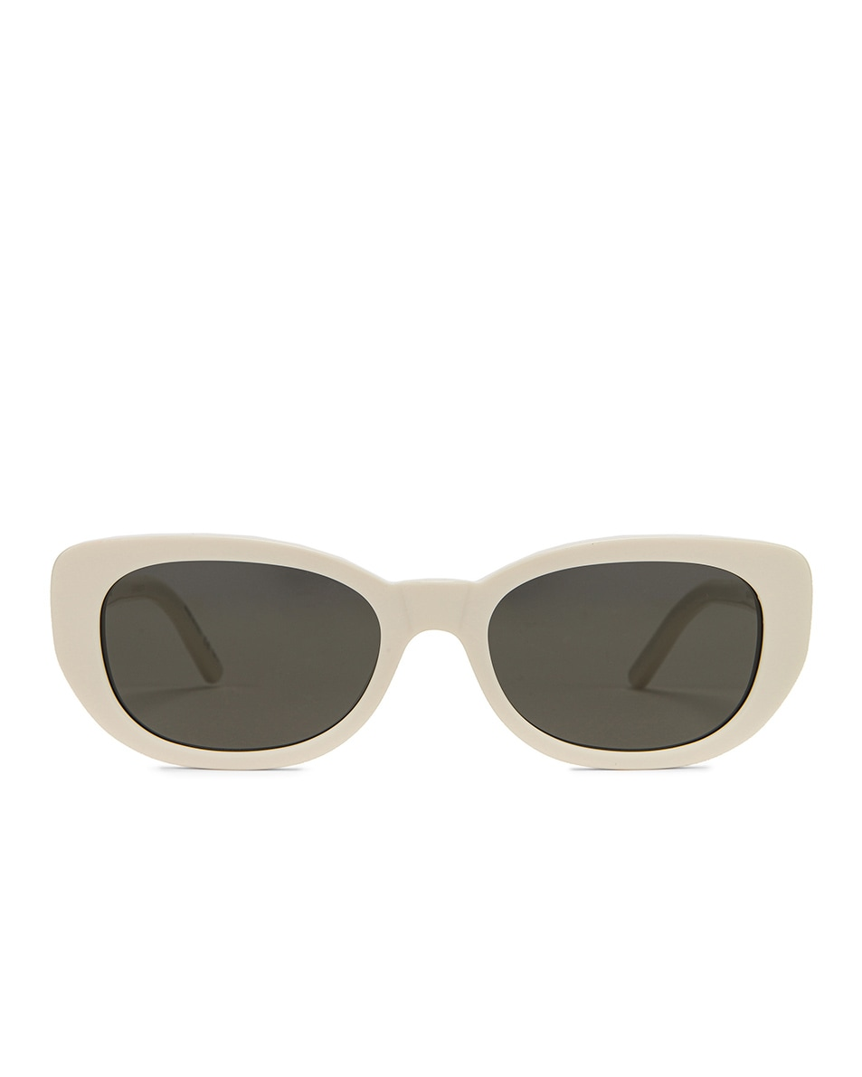 Image 1 of Saint Laurent Betty Vintage Sunglasses in Shiny Ivory & Grey