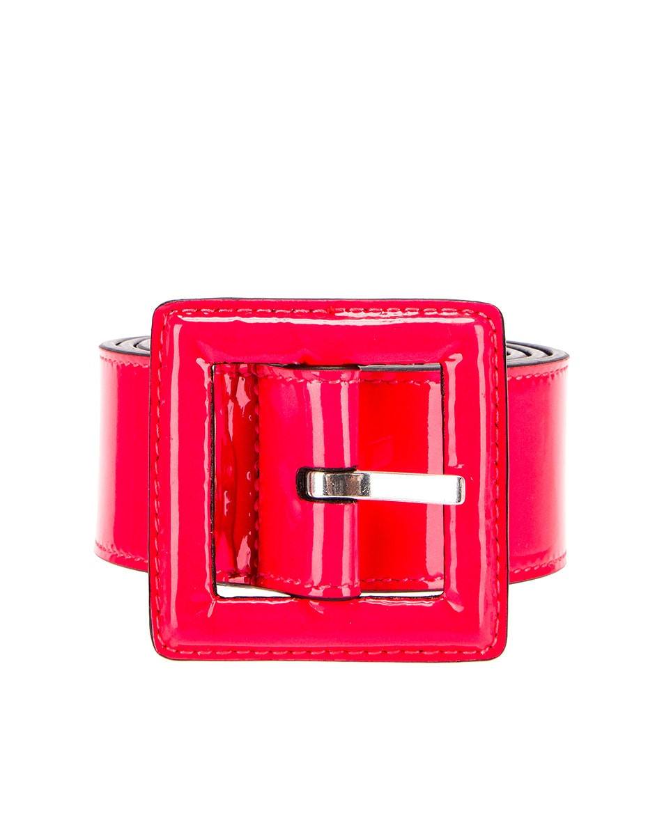Image 1 of Saint Laurent Patent Leather Belt in Neon Pink