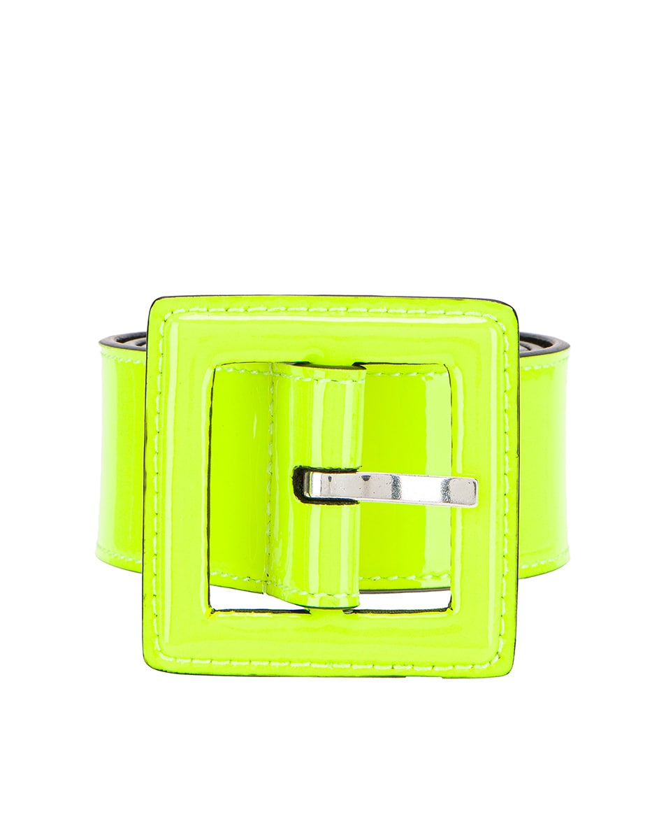 Image 1 of Saint Laurent Patent Leather Belt in Neon Yellow