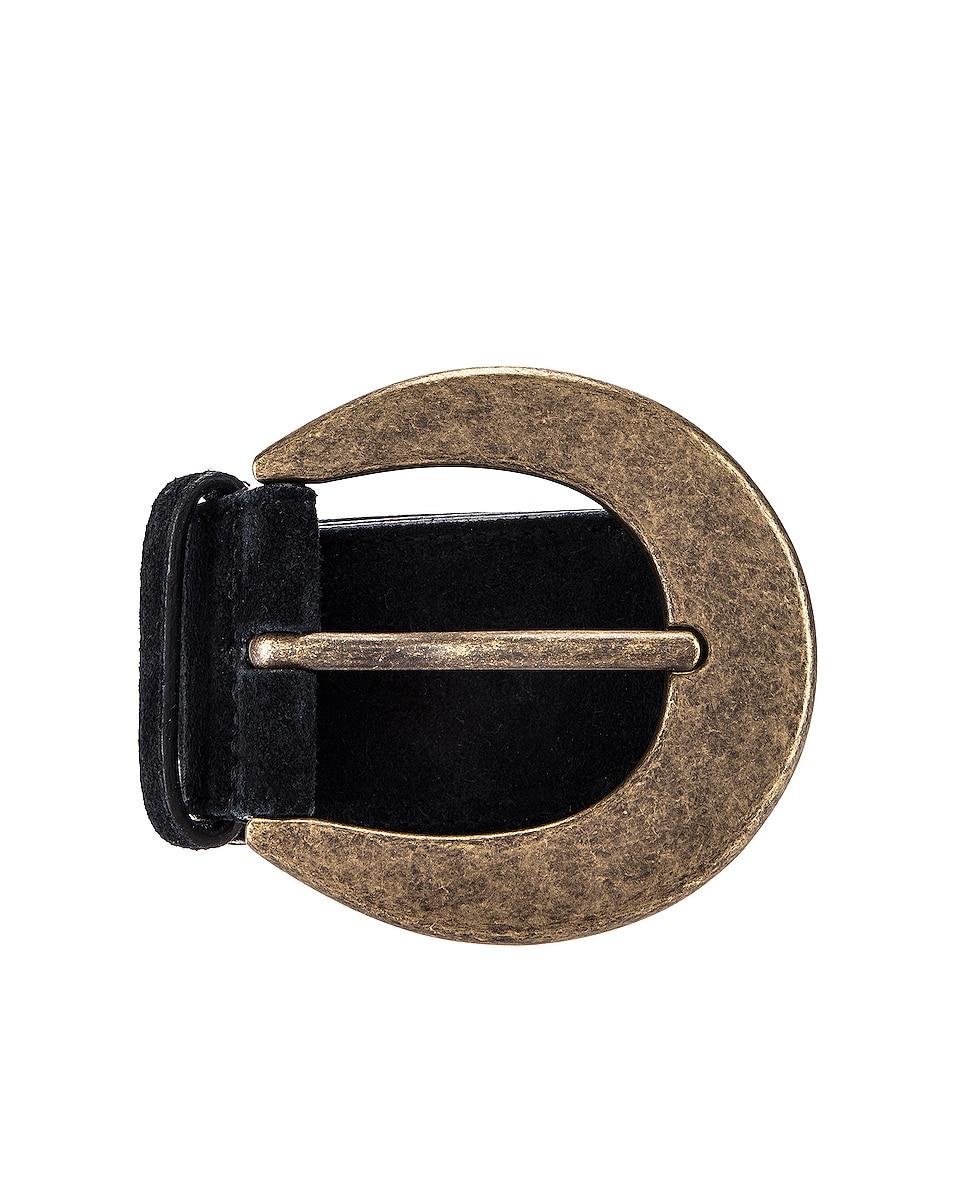 Image 1 of Saint Laurent Light Suede Belt in Black