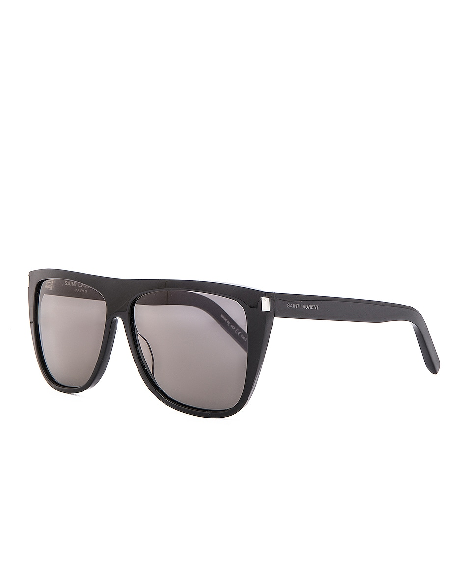 Image 2 of Saint Laurent SL 1 Sunglasses in Black
